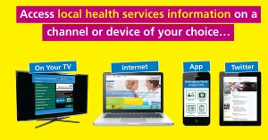 Local health service info on a device of your choice