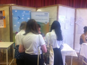 The NNE stand at the Carlton Le Willows Health Fair
