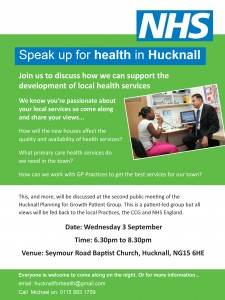The Hucknall Planning for Growth Patient Group meeting